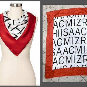 ISAAC MIZRAHI for Target Silk Scarf Red/White